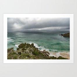 Stormy Cornish morning. Art Print