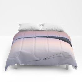 Water. Pedras del Rei. Pink sunset Comforters