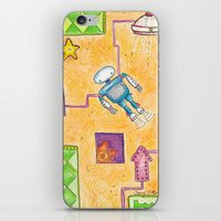 lab iPhone & iPod Skins featuring Robot Lab by Cheryl Chiappetta Murray