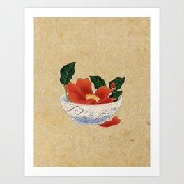 Minhwa: Camellia Bowl A Type Art Print