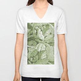 Celery Green Acanthus Plant Unisex V-Neck