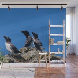 Ninjas in feathers Wall Mural