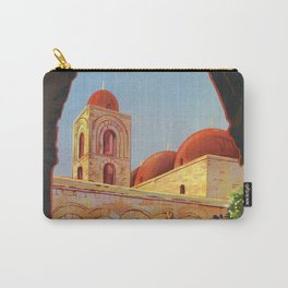 vintage 1920s Palermo Sicily Italian travel ad Carry-All Pouch