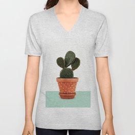 Cactus Pot Unisex V-Neck