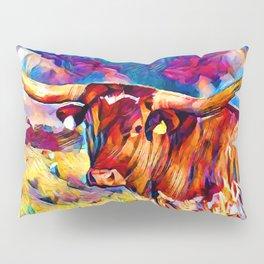 Texas Longhorn 3 Pillow Sham