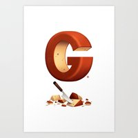 G is for Gouda Art Print