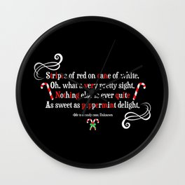 Candy Cane Wall Clock