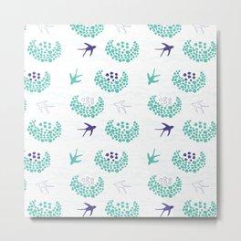My swallows - Fabric pattern Metal Print