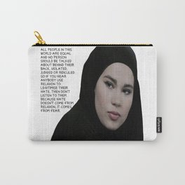 SKAM - Sana Bakkoush - All people in this world are equal Carry-All Pouch