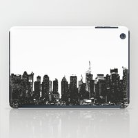 wwe iPad Cases featuring New York black and white high quality art print by eARTh