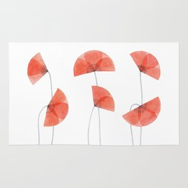 Flanders poppy, corn poppy, flower Rug