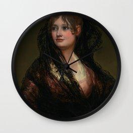 """Francisco Goya """"Portrait of Doña Isabel de Porcel"""" Wall Clock"""