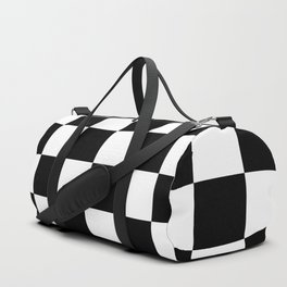 Black & White Checker Checkerboard Checkers Duffle Bag