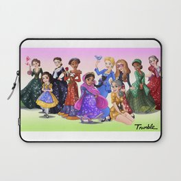 """Ten Real-World Princesses Who Don't Need Disney Glitter"" Trumble Cartoon Laptop Sleeve"