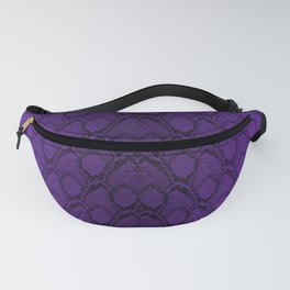 Purple and Black Python Snake Skin Fanny Pack