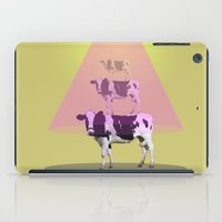 cows iPad Cases featuring Cows attraction by AmDuf