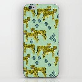 Cheetah safari nursery kids animal nature pattern print gifts iPhone Skin