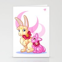 sailormoon Stationery Cards featuring Moon Rabbits by Becky Hopkins