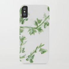 Summer Leaves Slim Case iPhone X
