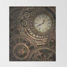 Steampunk Clockwork Throw Blanket
