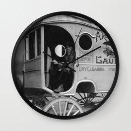Laundry Delivery Boy - Birmingham 1914 Wall Clock