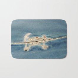 Avion bleu Bath Mat
