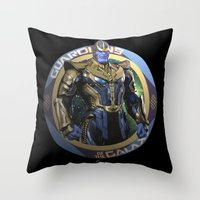 thanos Throw Pillows featuring Thanos - Guardians of the Galaxy by Leamartes