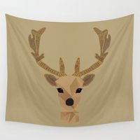 antler Wall Tapestries featuring Antler Home by My Studio