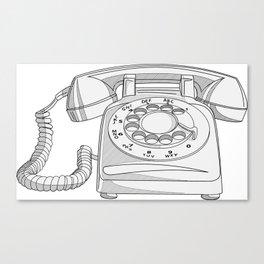 Rotary Phone Canvas Print
