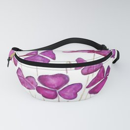 purple clover leaves Fanny Pack