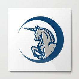 Unicorn Horse Prancing Side Metal Print