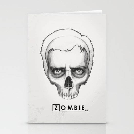 Gregory House Skull House MD Art Stationery Cards