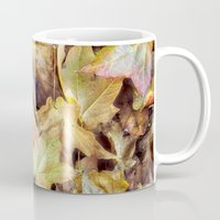 blanket Mugs featuring autumn blanket by Bonnie Jakobsen-Martin