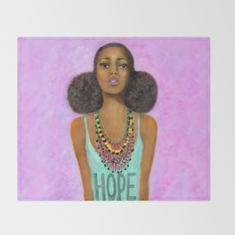 Hope Craze Throw Blanket