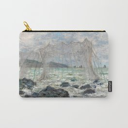 1882-Claude Monet-Fishing nets at Pourville-86 x 106 Carry-All Pouch
