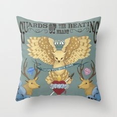 the guards of the beating heart Throw Pillow