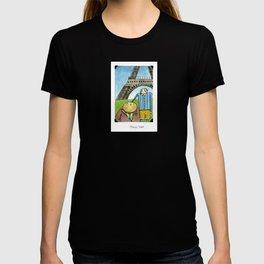 Tibbit and Franklin Visit Paris T-shirt