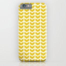 mustard chevron iPhone Case