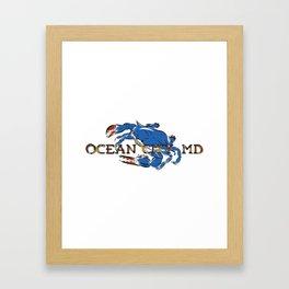 Ocean City Blue Crab Framed Art Print