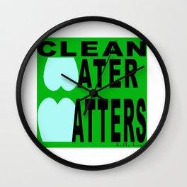 bbnyc's clean water statement #1 Wall Clock