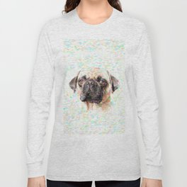 Pointillistic Pug Long Sleeve T-shirt