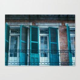French Quarter Blues, No. 1 Canvas Print