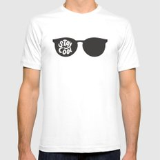 Stay Cool Mens Fitted Tee White MEDIUM