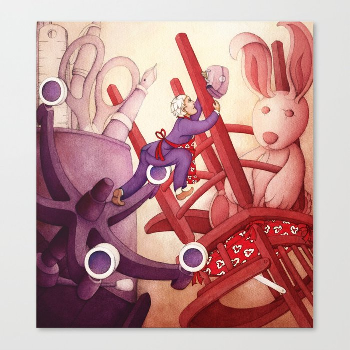 A Precarious Balance between Career and Family Canvas Print