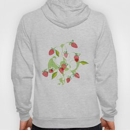 Patterned Strawberries Hoody