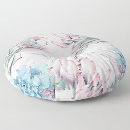 Pretty Pastel Succulents Garden 1 Floor Pillow