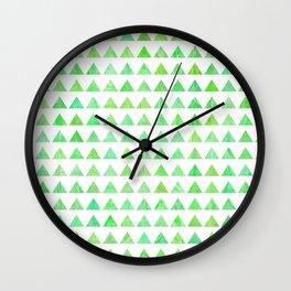 evergreen geometric pattern Wall Clock