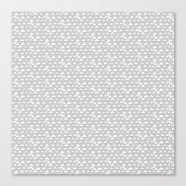 mojave, grey pattern Canvas Print