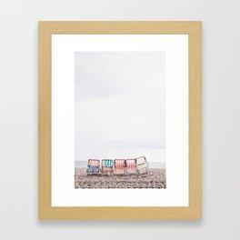 Stuff chairs beach Framed Art Print