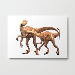 Velociraptor ..  animal design Metal Print